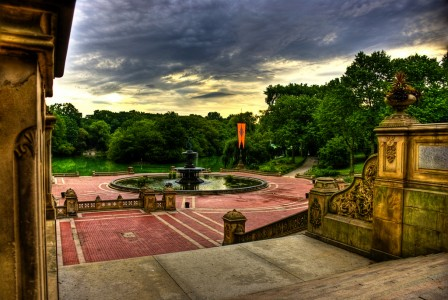Bethesda Fountain, San Francisco, CA, Courtesy of: F. Diez